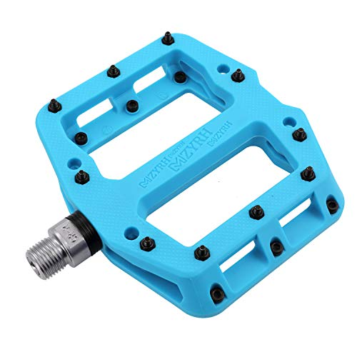 MZYRH MTB Pedals Mountain Bike Pedals Lightweight Nylon Fiber Bicycle Platform Pedals for BMX MTB 9/16""