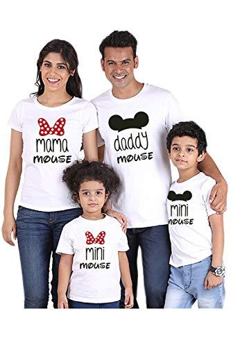 Camisetas Familiares Juego Mamá Papá Yo Moño Nudo Camisetas Jersey Blanco Hombres S