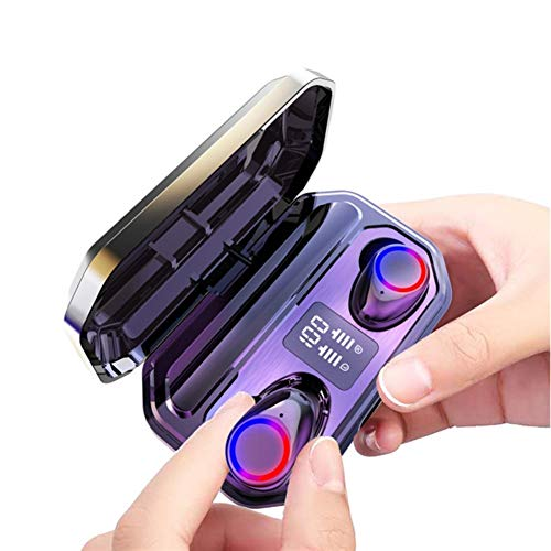 XZJJZ Auriculares Bluetooth, se adapta al diseño todo en uno Cochlear Smart Touch, emparejando automáticamente el efecto envolvente tridimensional, adecuado para conducir y correr (color negro)