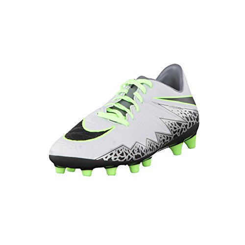 Nike Hypervenom Phelon II AG-PRO, Scarpe da Calcio Uomo, Argento/Platino Puro/Nero/Verde (Ghost Green), 44 EU