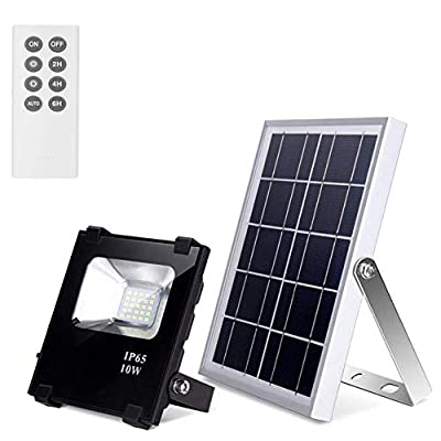 Solar Flood Lights with Remote Outdoor Led Solar Lights 10W 500LM 25 LEDs IP65 Waterproof Solar Security Lights Dusk to Dawn Floodlights for Shed,Barn,Garage,Pool,Garden