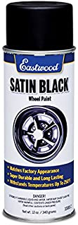 Eastwood Chip Resistant Touch Up Satin OEM Black Wheel Spray Paint Aerosol 12 oz
