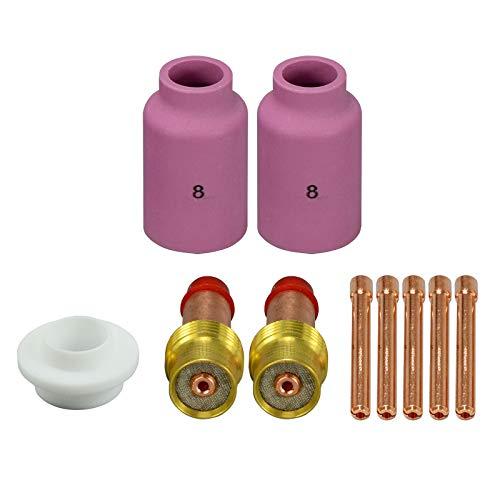 TIG Lente de gas Kit de accesorios 45V26 Antorcha de Soldadura Tig WP-17 WP-18 WP-26 10 piezas