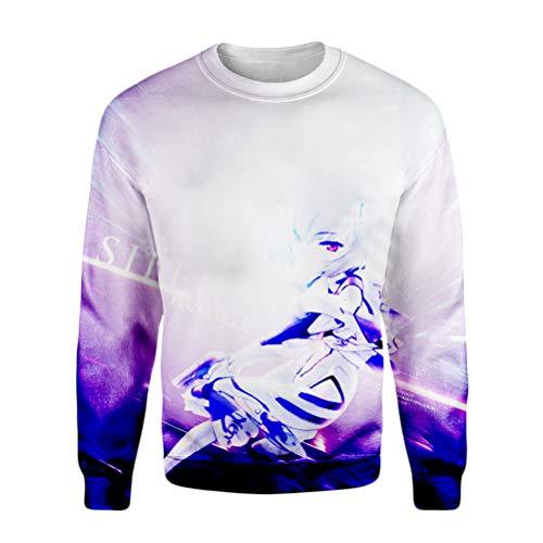 Neon Genesis Evangelion Pullover Herbst Warme Sports Sweatshirt Klassische Basic Pullover Mode Classic Outwear Männer Alle Baumwolle Hoodies Standard Rundhalsmäntel Unisex ( Color : A10 , Size : S )