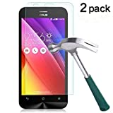 TANTEK [2-Pack] Screen Protector for Asus Zenfone 2 (5.5 Inch),Tempered Glass Film,Ultra Clear,Anti Scratch,Bubble Free,Case Friendly