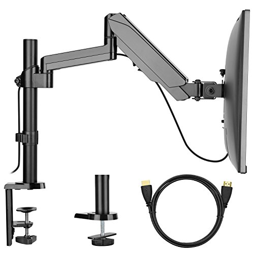 Monitor Mount Stand - Adjustable Single Arm Desk Vesa Mount with...