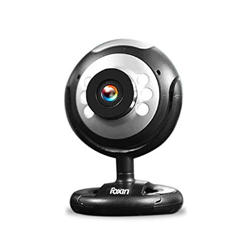 Foxin 30MP WEBVISION Web Camera with in-Built mic, Auto White Balance Feature (Black)