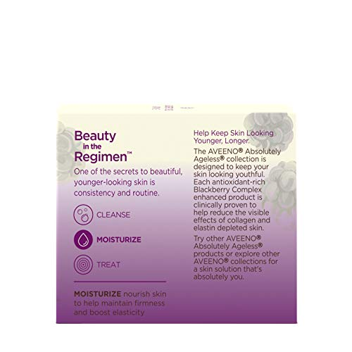 Aveeno Absolutely Ageless Restorative Night Cream Facial Moisturizer with Antioxidant-Rich Blackberry Complex, Vitamin C & E, Hypoallergenic, Non-Greasy & Non-Comedogenic, 1.7 fl. oz