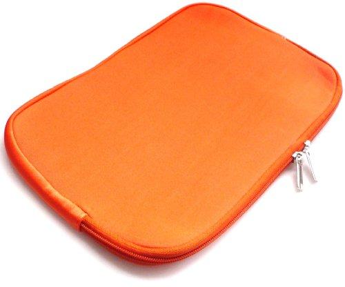 Emartbuy® Orange Wasserabweisende Weiche Neopren Hülle Schutzhülle Sleeve Hülle mit Reißverschluss geeignet/Schutzhülle Passend für Sony VAIO Duo 13 Convertible Ultrabook (13-14 Zoll Laptop/Notebook)