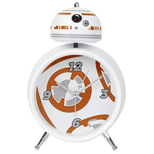 Star Wars- Sveglia a Forma di Carattere BB-8 Licenza Ufficiale, Colore White, PP3405SW