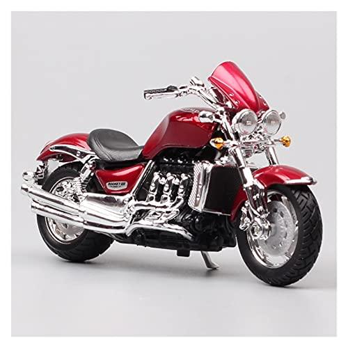 MHDTN El Maquetas Coche Motocross Fantastico 1: 18 para Triumph Rocket 3 Trident Cruiser Motocicleta Deportes Estática Fundición A Presión Colección De Modelos De Motocicleta Expresión De Amor