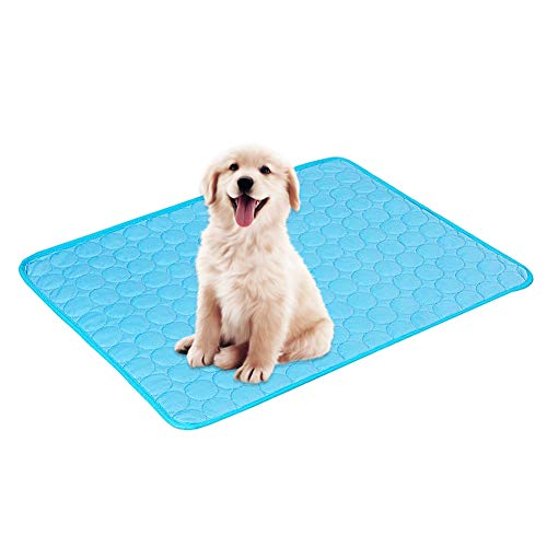 Cooling Mat for Dogs LLMZ Kennel Pad Pet Cooling Pad Breathable Cooling Mat, Cold Gel Pad for Cats and Dogs, Self-Cooling Mat, Suitable for Pets such as Cats and Dogs