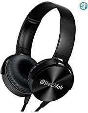 Sketchfab Extra bass Headphones Over The Ear Headset with Deep bass (Black)