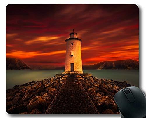 Yanteng Tappetini per Mouse da Gioco, Padiglione per Mouse Lighthouse at Night