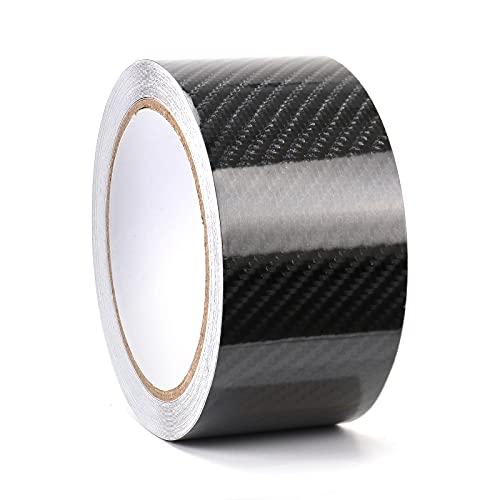 Kaliwa Carbon Folie 5cm*900cm, selbstklebend Autofolie aus Vinyl, Lackschutzfolie Schutzfolie für Auto/Fahrrad/Motorrad - 5 x 900 cm