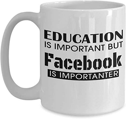 Keyboard cover Lustige Geschenke für Frauen Männer Lustige Lustige Kaffeetasse Bildung ist wichtig, Aber Facebook ist wichtiger