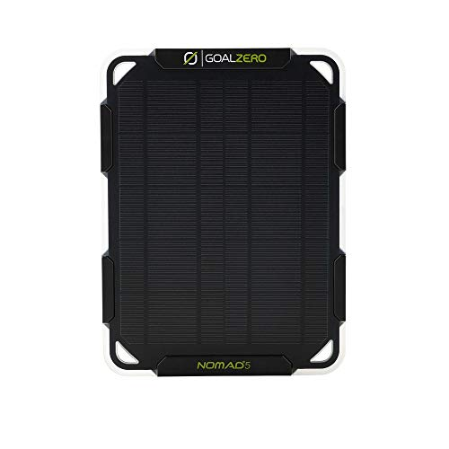Goal Zero Nomad 5 Solar Panel | 5 Watt Monocrystalline Solar Panel, Perfect for USB Phone Solar Charging