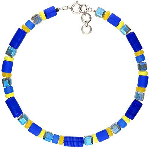 langani Kette Bleu, Damen Halskette, Handmade Since 1952