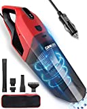 GOOLOO Portable Car Vacuum Cleaner High Power 6500PA Cyclonic Suction with Washable HEPA Filter Handheld Corded Lightweight Vacuum DC 12V for Quick Car Cleaning Pet Hair Dust Dirt