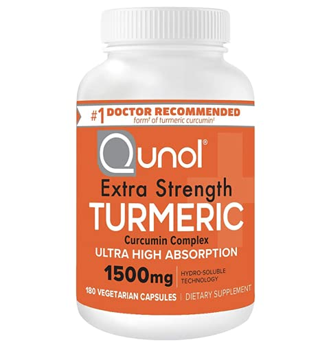 Qunol Turmeric Curcumin Capsules with Ultra High Absorption 1500mg Joint Support Dietary Supplement...