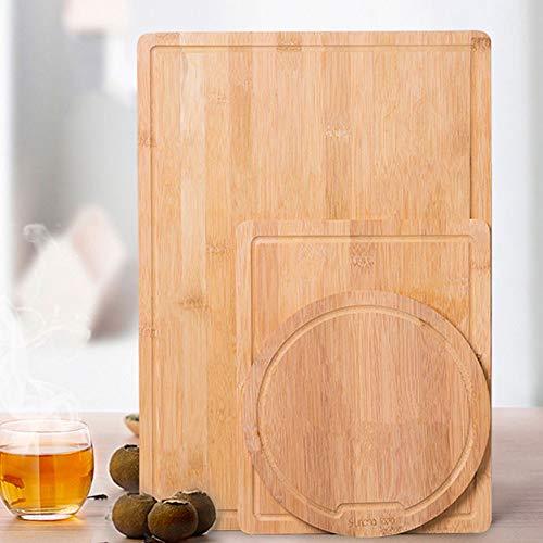 Cutting board Tabla de Cortar, Tabla de Cortar de Madera Maciza para Cocina doméstica, antibacterias y a Prueba de Moho, Juego de Frutas de Tres Piezas 45 * 32 cm