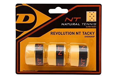 Dunlop Unisex-Adult 613247 NT Tacky Tennis Overgrip 3 Stück orange, One Size