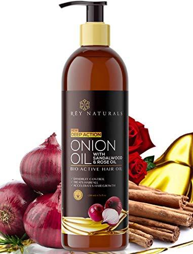 Rey Naturals Pflegende Haarkur mit echtem Zwiebel-Extrakt, Haaröl für Unisex, 200 ml