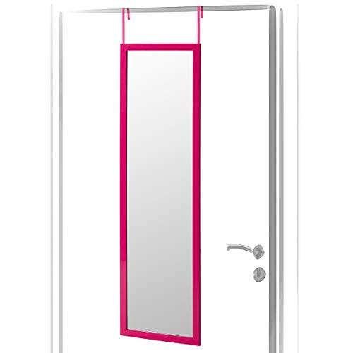 Lola Home Espejo de Puerta Moderno de plástico de 35 x 125 cm (Rosa)