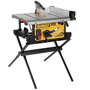DEWALT DWE7490 X 10-Inch Job Site Table Saw with Scissor Stand