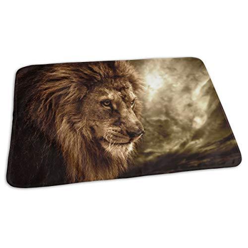 Matelas à langer portable imperméable et réutilisable pour changer de couche - Motif lion