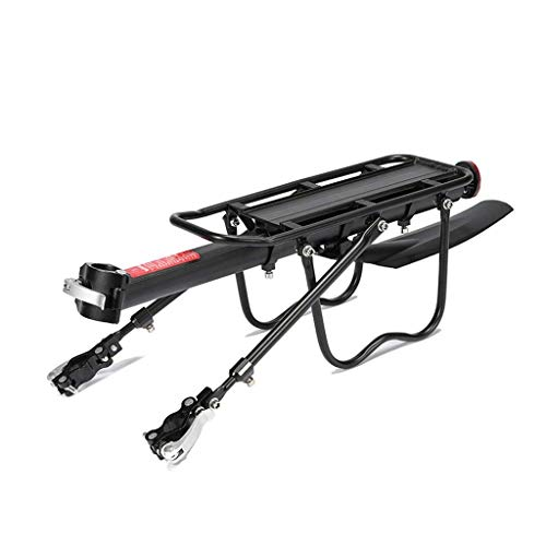 Great Deal! GBZZ MTB Bike Luggage Rack, Aluminum Bicycle Cargo Rack Quick Release with Reflector 50kg Capacity