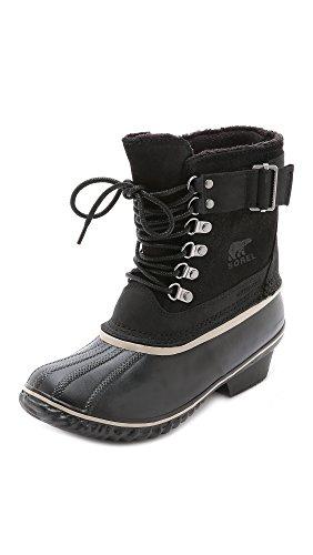 Sorel Damen Winter Fancy Lace Ii Shell Boot, 37.5 EU, Black/Silver Sage