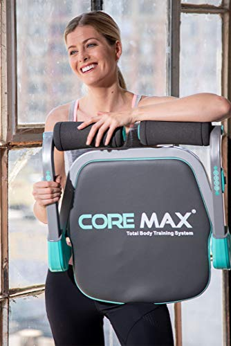 Core Max 2.0 Smart Abs and Total Body Workout Cardio Home Gym , Teal/Grey