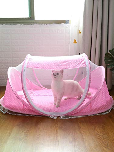 SHIYID Cat Litter Folding Kennel Mat Pet Delivery Room Pet Tent Breeding Cat Room Anti-Mosquito
