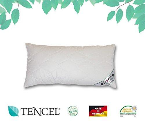 allsana Tencel® Klimafaser Kopfkissen 40x80 cm, Lyocell Kopfkissen voll waschbar bei 60°C, voll waschbares Kissen für Allergiker, atmungsaktiv