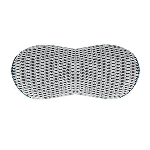 Kaxofang CojíN de Espuma de Memoria Pura Asiento de Coche Silla de Oficina Soporte Lumbar Almohada de Respaldo para el Alivio del Dolor Lumbar
