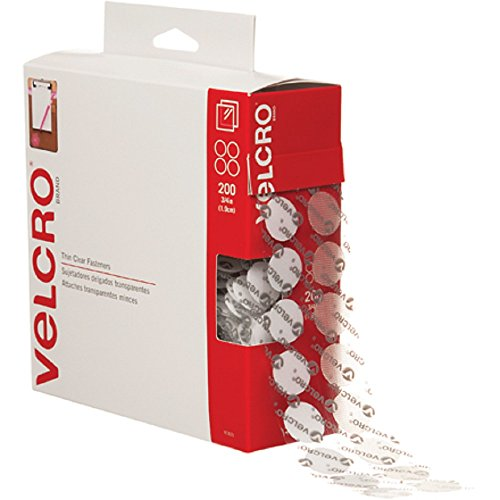 "VELCRO Brand - Sticky Back - 3/4"" Coins, 200 Sets - Clear"