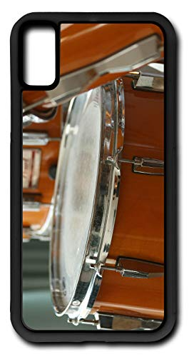 iPhone XR Case Fits iPhone XR Snare Drum Percussion Instrument Marching Band Customizable by TYD Designs in Black Rubber