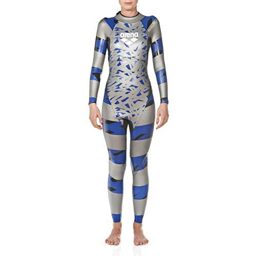 ARENA Damen Triathlon SAMS Carbon Neoprenanzug, Silver/Blue, L