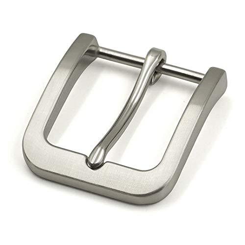 Edelstahl-Dornschließe für Herren, Ledergürtel, zum Anklippen, 40 mm, Leder, Matte 1, 40mm*45mm 53mm*58mm
