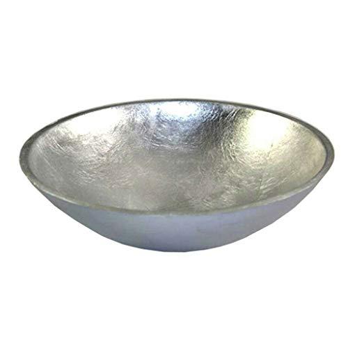 FLORISSIMA - Fine bowl plate decorative bowl silver paper mache D 30 cm height approx. 10 cm