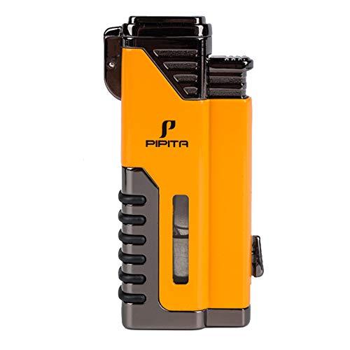 【高い品質】PIPITA 直噴ターボライター ガスシガー葉巻ライター バーナーフ 防風 注入式 キャンプ ジェットライター アウトドア ライター(ガスなし)