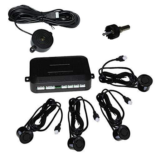 Hengda Einparkhilfe mit PDC Sensor System Pieper inklusive 4 Sensoren in schwarz für hinten