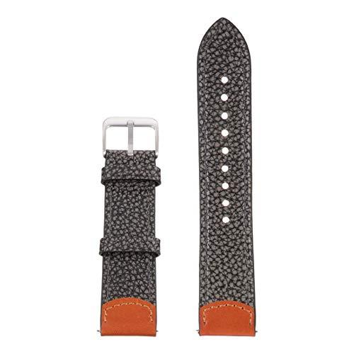 POPETPOP Pulseira de Couro para Relógio de Substituição de Grãos Pulseira de Fivela de Aço Inoxidável para Homens Mulheres Compatível para Huawei Watch Gt1 / 2 Honor Magics