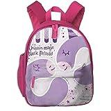 Kinderrucksack für Mädchen, Unicorn Magic Nackenkissen Purple_2846 - lidiebug, Für Kinderschulen...
