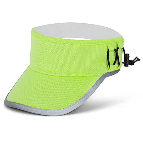 Gone For a Run Ultralight Visor with RunTechnology | Moisture Wicking and Reflective Sports Visor | Safety Yellow