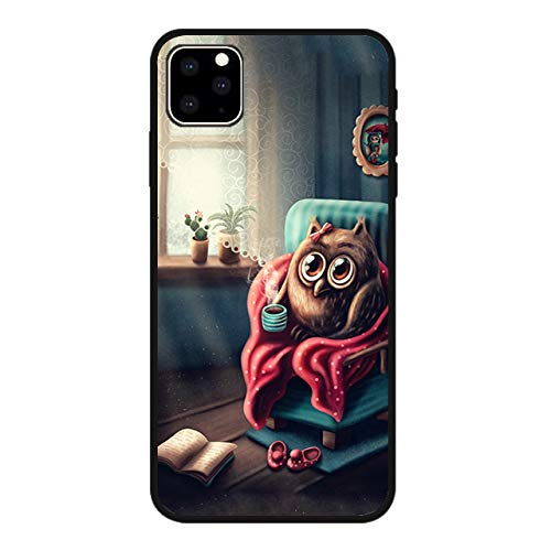 Blingy's iPhone 11 (6.1 inch) Case, Owl Style Soft TPU Protective Case Compatible for iPhone 11 6.1' 2019 Release (Cozy Owl)