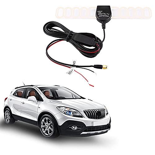 Antena digital para coche, amplificador aéreo de TV digital para coche universal, antena FM DVB-T con conector de enchufe SMA (M)