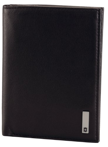Victorinox Men's Altius 3.0 Grenoble Leather Vertical Bi-Fold Wallet with European Id Window, Black, One Size