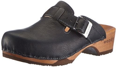 Woody Damen Manu Clogs, Schwarz (Nero), 40